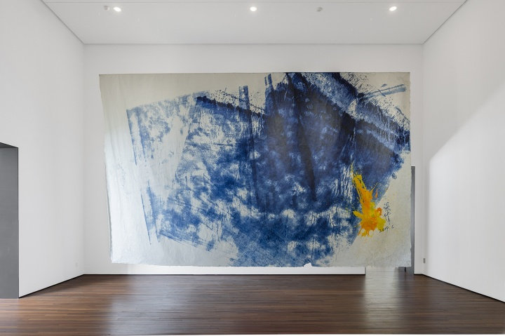 Spurs画廊张伟《Z-KIW1955》400×600cm 宣纸油画 2019 (摄影:董林)