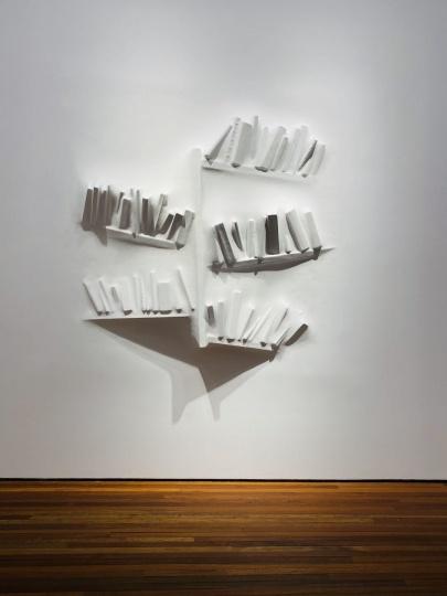 劳瑞斯·切克尼《间隙(书架)II》 180×180×23cm 聚酯树墙上涂料 2018 (摄影:娟子)