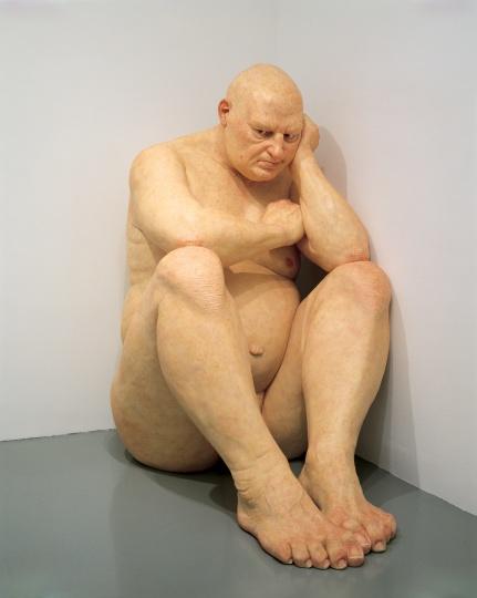 让·穆克(Ron Mueck) 《无题(大个子)》 203.8×120.7×204.5cm玻璃纤维、染色聚酯树脂2000 美国华盛顿赫什霍恩博物馆暨雕塑公园馆藏
