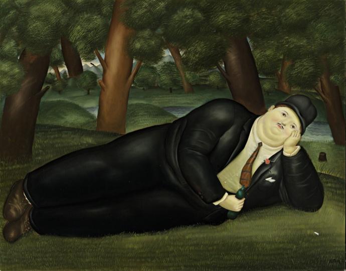 费尔南多·博特罗(Fernando Botero) 《诗人》 93.5×119.5cm 布面油画 1970