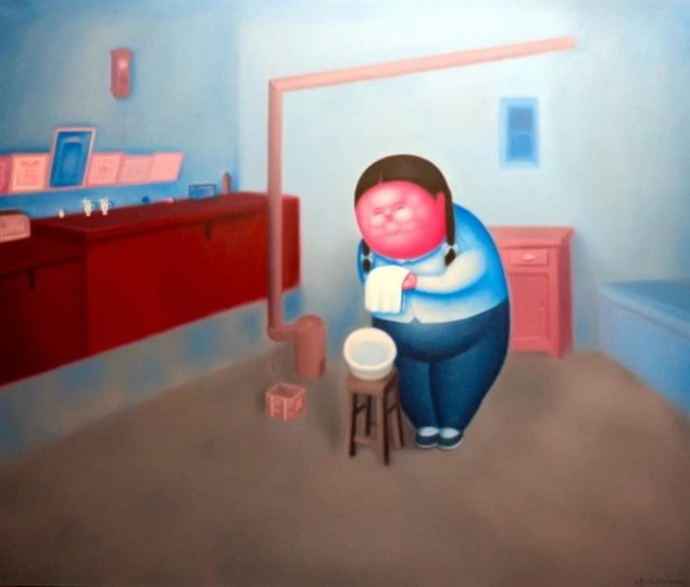 潘德海 《童年》 170×200cm布面油画 2013 ©️潘德海