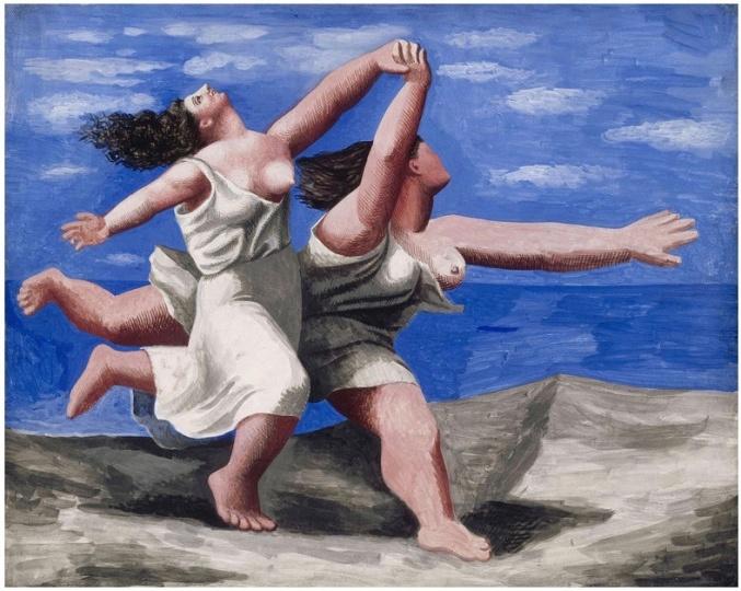 毕加索(Pablo PIcasso) 《在海滩上奔跑的两个女人》板上丙烯 32.5×41.1cm1922 法国国立毕加索博物馆馆藏