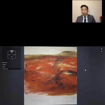 赵无极《21.10.63》,油彩 画布,200x180cm.,1963年作  估价待询
