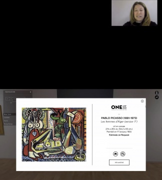 巴布罗·毕加索《阿尔及尔的女人(F版) 54.2×65cm 油画 画布 1955年1月17日作  估价:2500万美元