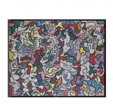 让·杜布菲《POURLÈCHE FISTON》 114x146cm 油画画布 1963年作  估价:300万-500万英镑