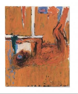 乔治·巴塞利兹《GEBEUGTER TRINKER》 250×200cm 油画 画布 1982年作  估价:450万-650万英镑