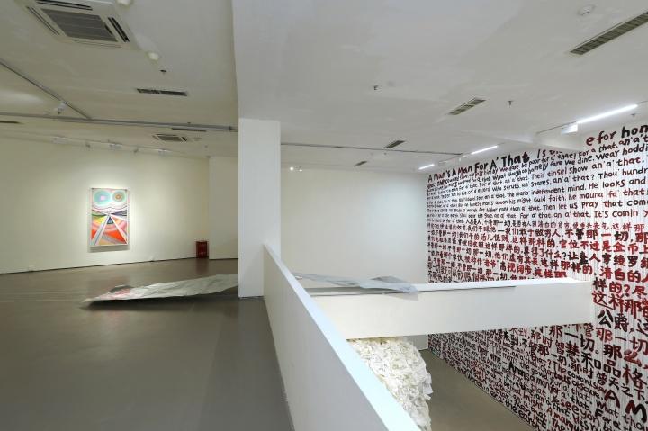 《Temple》 600×600×550cm大理石、印刷平板纸、镀锌板2020