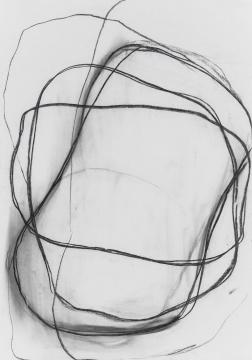 谭平 《无题》 108 x78cm 纸本炭笔 2003