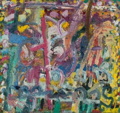 吉莲·艾尔斯 《蜂采蜜的地方》 227.3 x 242.5 cm 布面油画 1981-1982