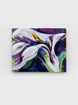 《马蹄莲 01》100×80 cm 布面油画 2020,