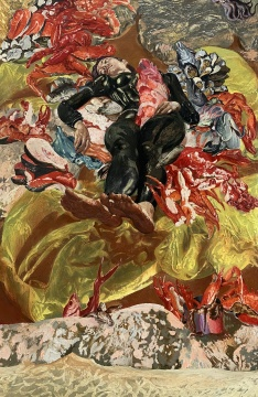 龚辰宇 《偶像-海女》 230×150cm布面油画2020