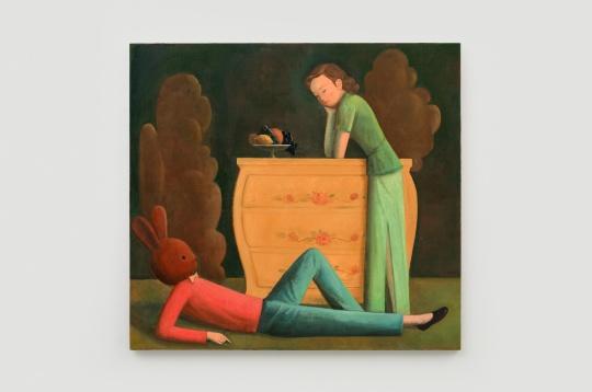 季鑫 《春欲幕》130×140cm 布面油画 2020