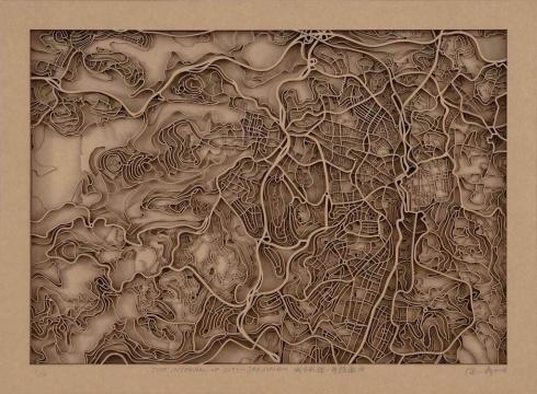 徐小鼎 《城市肌理-雅典》50×68cm 纸雕 2018