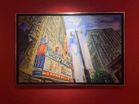 《洛杉矶城中的剧院》 139.7×213.4cm 布面丙烯 2015-2016