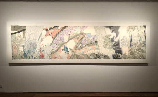 苏煌盛 《热谷》 96x 378cm 矿物颜料、墨、麻纸 2019