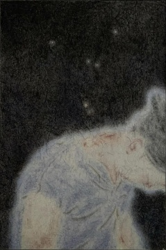 苏煌盛 《金星之二》76.5 x 53.5 cm 矿物颜料、墨、宣纸 2020 图片来源:艺术家