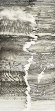 熊辉 & 韦邦雨 《Same Line Twice 10》70 x 138 cm纸本水墨 2017图片来源:艺术家