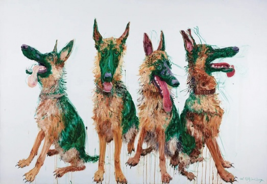 Lot842 周春芽《四个TT》 220 x 320 cm 布面油画 2007年  RMB ¥ 12,000,000 - 25,000,000