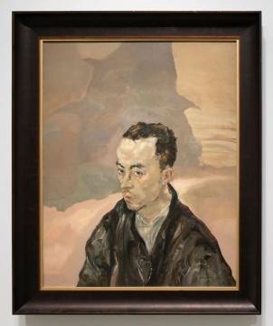 毛焰 《青年郭力》 92×73cm 布面油画 1994