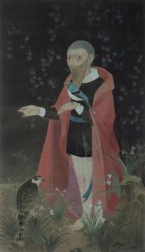 Lot863 郝量 《幽暗》 165 × 95 cm 绢本设色 2010 RMB ¥ 5,000,000 - 8,000,000
