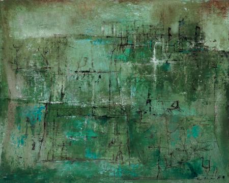 Lot818 赵无极 | 无题 | 1949-1951年作 | 布面油画 | 32×41cm RMB ¥ 3,000,000-5,000,000