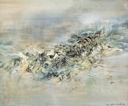 Lot820 赵无极 | 2.3.60 | 1960年作 | 布面油画 | 45.5×55cmRMB ¥ 5,800,000-8,800,000