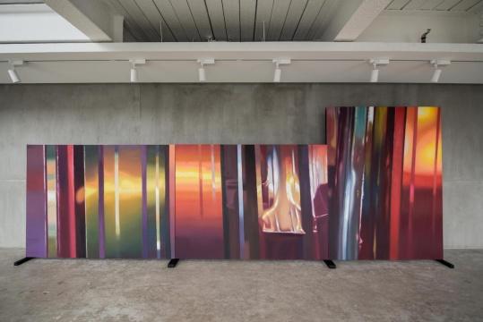 陈文波 《紫金》 200×150 cm×3 布面油画 2019