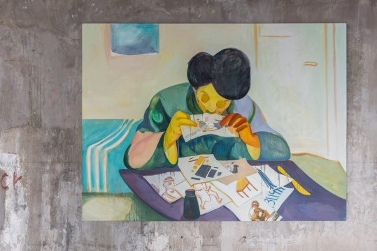 翟倞 《早餐》 135×180 cm 布面油画 2020