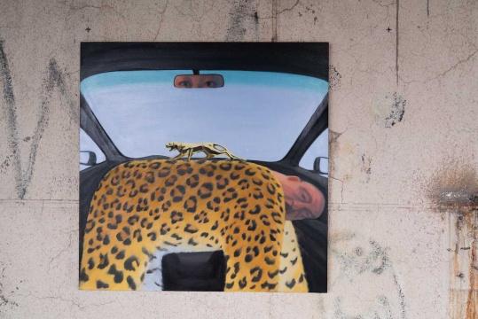 王晓曲 《豹》 130×130 cm 布面油画 2020