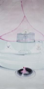 《魔术剧目5#》 100cm x200cm 宣纸水墨 2015
