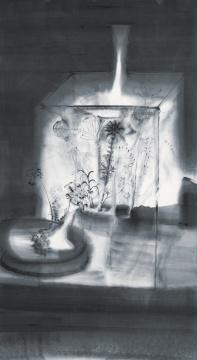 《花魂》85cmx150cm 纸本水墨 2010