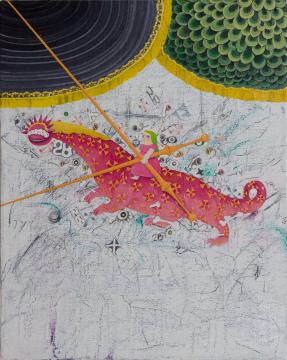 张弓 《启示录 No.6》 40 x 32 cm 布面油画 2020