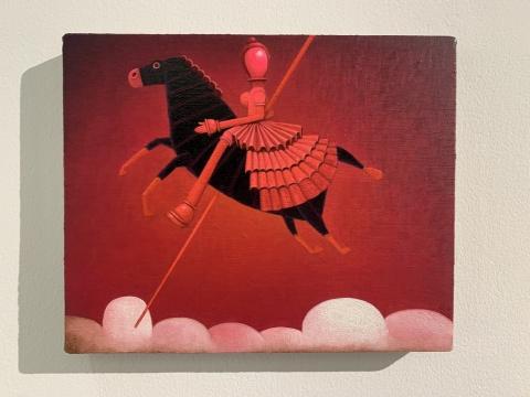 张弓 《启示录 No.5》22 x 27 cm布面油画 2020