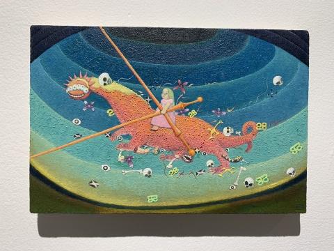 张弓 《启示录 No.1》20 x 30 cm布面油画2020