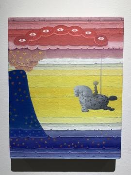 张弓 《启示录 No.3》 40 x 32 cm 布面油画 2020