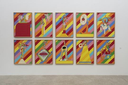 《十个印第安人(彩虹)》 100x72.7cm x10 布面丙烯 1996