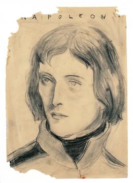 《拿破仑》纸上炭笔 42 x 29.6 cm 1991