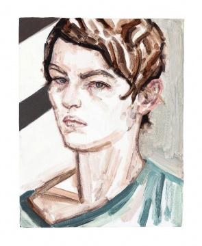 《自画像》板上油彩37.6x 27.9cm 2011