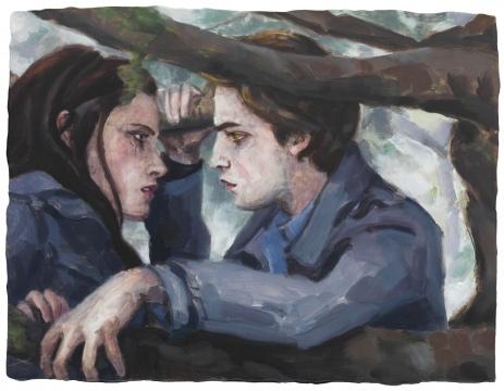 《暮光之城》 板上油彩 23.5 × 31.1 cm 2009
