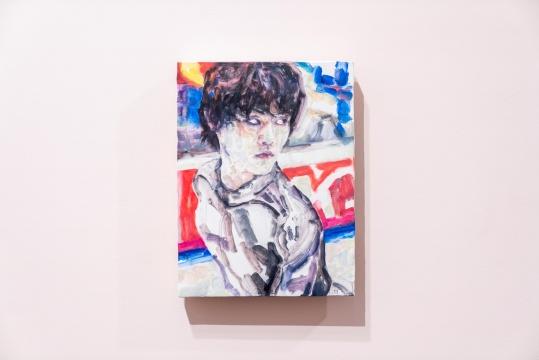 《练习(羽生结弦)》 板上油彩 30.9 × 22.9 cm2018