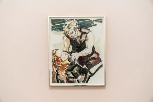 《我疲倦的爱人(曼侬·莱斯科)》 双石手工纸独版版画 97.8 × 77.5 cm 2015