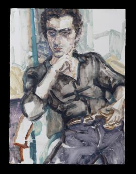 《丹·凯尔·尼尔森》 板上油彩 48.6 x 36.2 cm 2016
