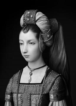 《人⼯剧团—不知名妇⼥肖像》(5) 70x100cm(10+2ap)100x140cm(5+1ap) CANSON INFINITY BARYTA 2017