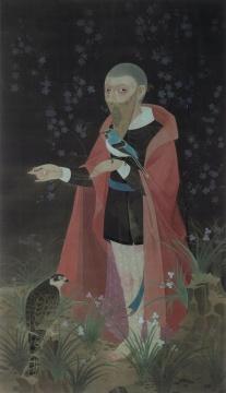 郝量《幽暗》165×95cm 绢本设色 2010  成交价:575万元  估价:500万-800万元,2020北京永乐夏拍