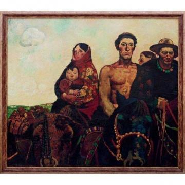 周春芽 《春天来了》 163×186.5cm 布面 油画 1984成交价:8625万元,刷新艺术家个人拍卖纪录估价:1500万-2500万元,中国嘉德春拍