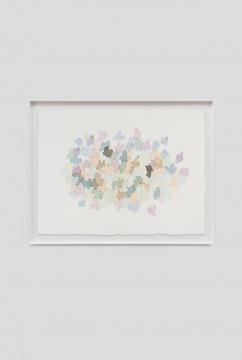 《落苔之一》58×77cm (绘画) 65.5 × 84.5 cm (外框) 纸上水彩 2020