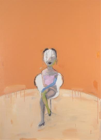 陈淑霞《闲人》110×80cm布面油画 2009