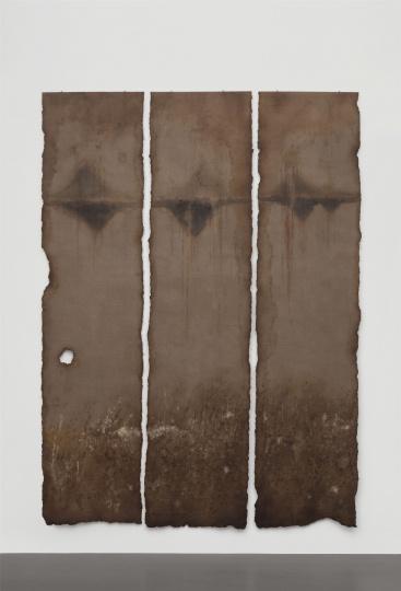 陈淑霞《后山》472×116cm×3 布面油画 2019