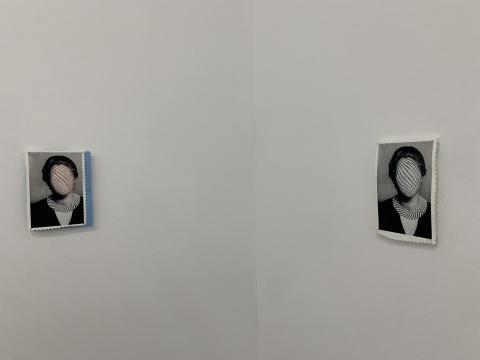 《时髦的女人》 17×11×2cm 图片、水性颜料 2018