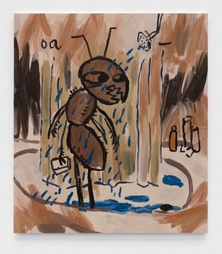约书亚·纳塔森 《Shower》 175x155cm 布面油画 2020